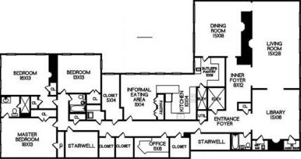 Example of a unit floorplan