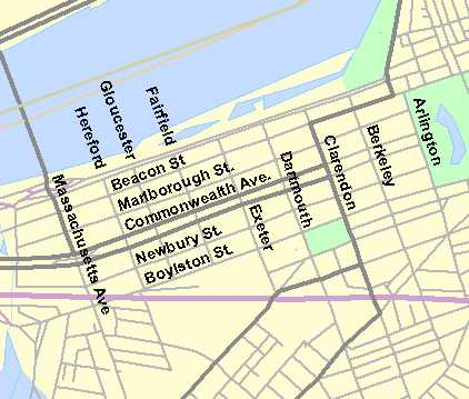 Street Map Back Bay
